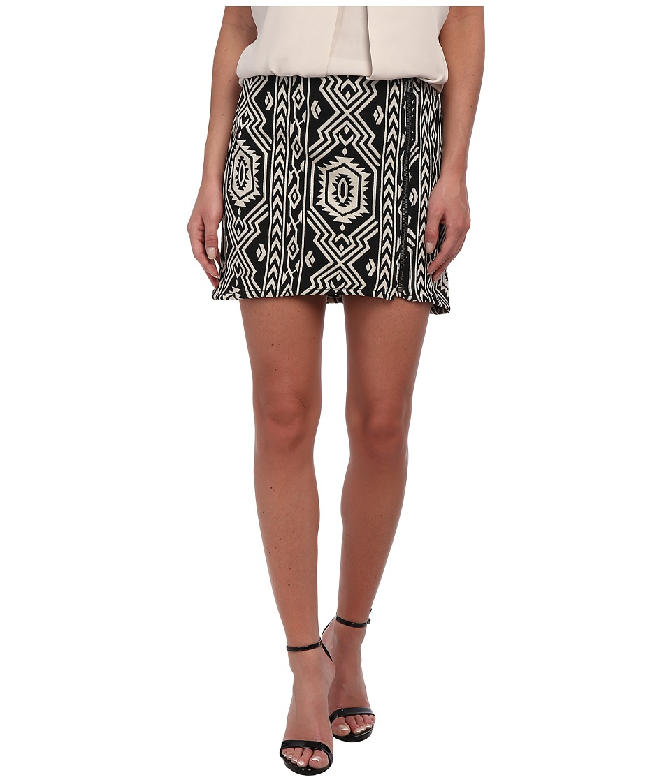 MINKPINK - Pardon My Freedom Skirt (Black/White) Women's Skirt