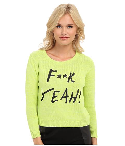 MINKPINK - Censored Sweater (Lime) Women's Sweater