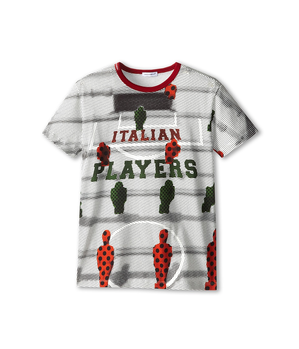 Dolce & Gabbana - Italian Player Tee (Big Kids) (White) Men's T Shirt
