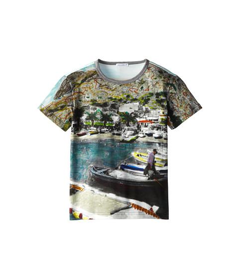 Dolce & Gabbana - Port Print T-Shirt (Big Kids) (Multi) Men's T Shirt