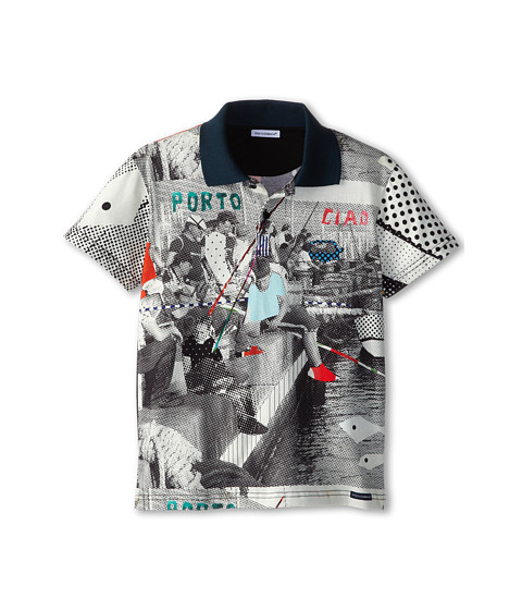Dolce & Gabbana - Fishing Poles Print Tee (Big Kids) (Multi) Men