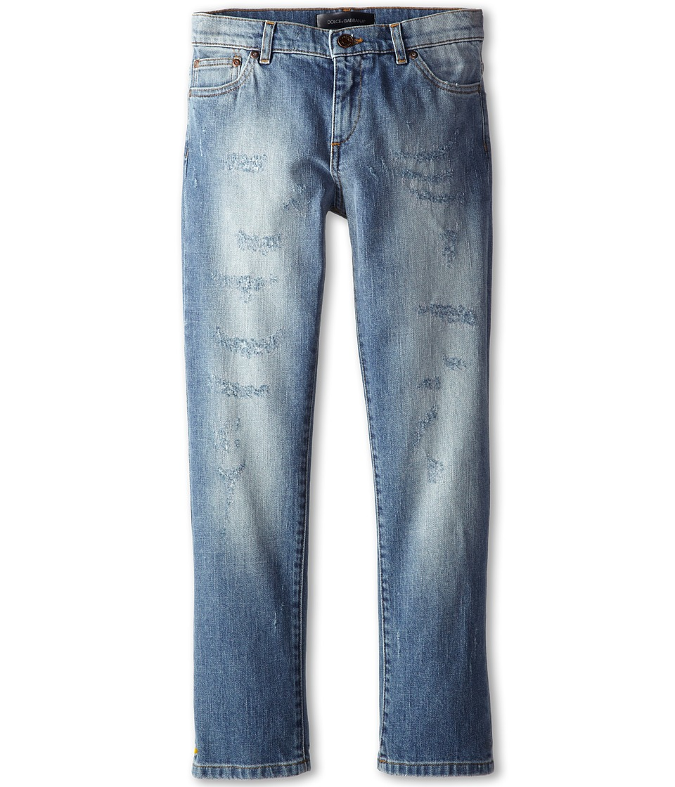Dolce & Gabbana Kids - Five-Pocket Jean (Big Kids) (Blue) Boy's Jeans