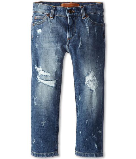 Dolce & Gabbana - Five-Pocket Distressed Jean (Toddler/Little Kids) (Blue) Men's Jeans