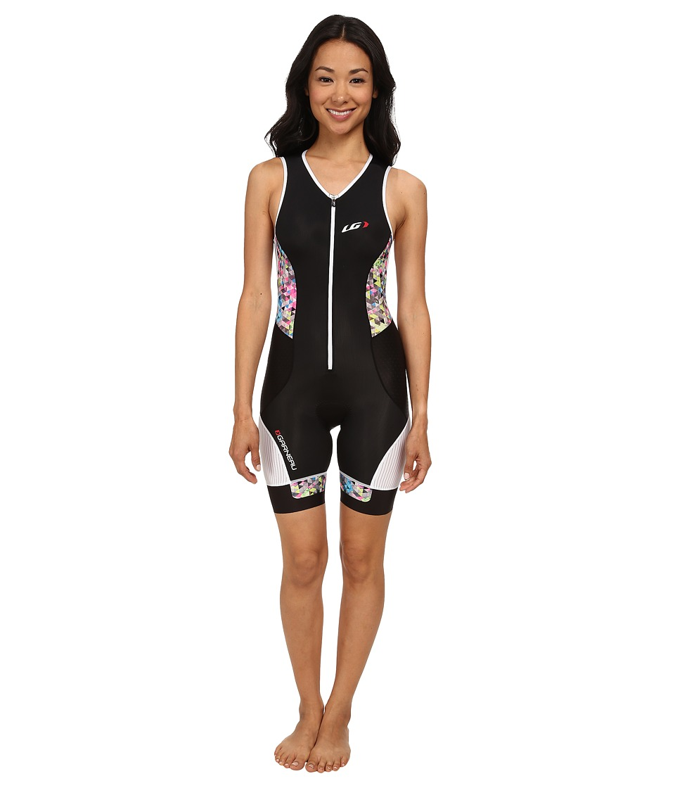 Louis Garneau - Women Pro Suit (Black/Multi) Women's Cycling Bibs One Piece