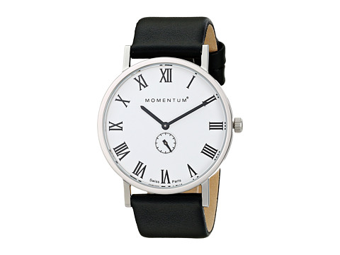 Momentum by St. Moritz - Monroe (White/Black Leather) Watches