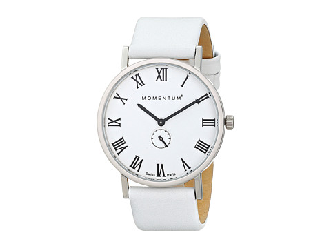 Momentum by St. Moritz - Monroe (White/White Leather) Watches