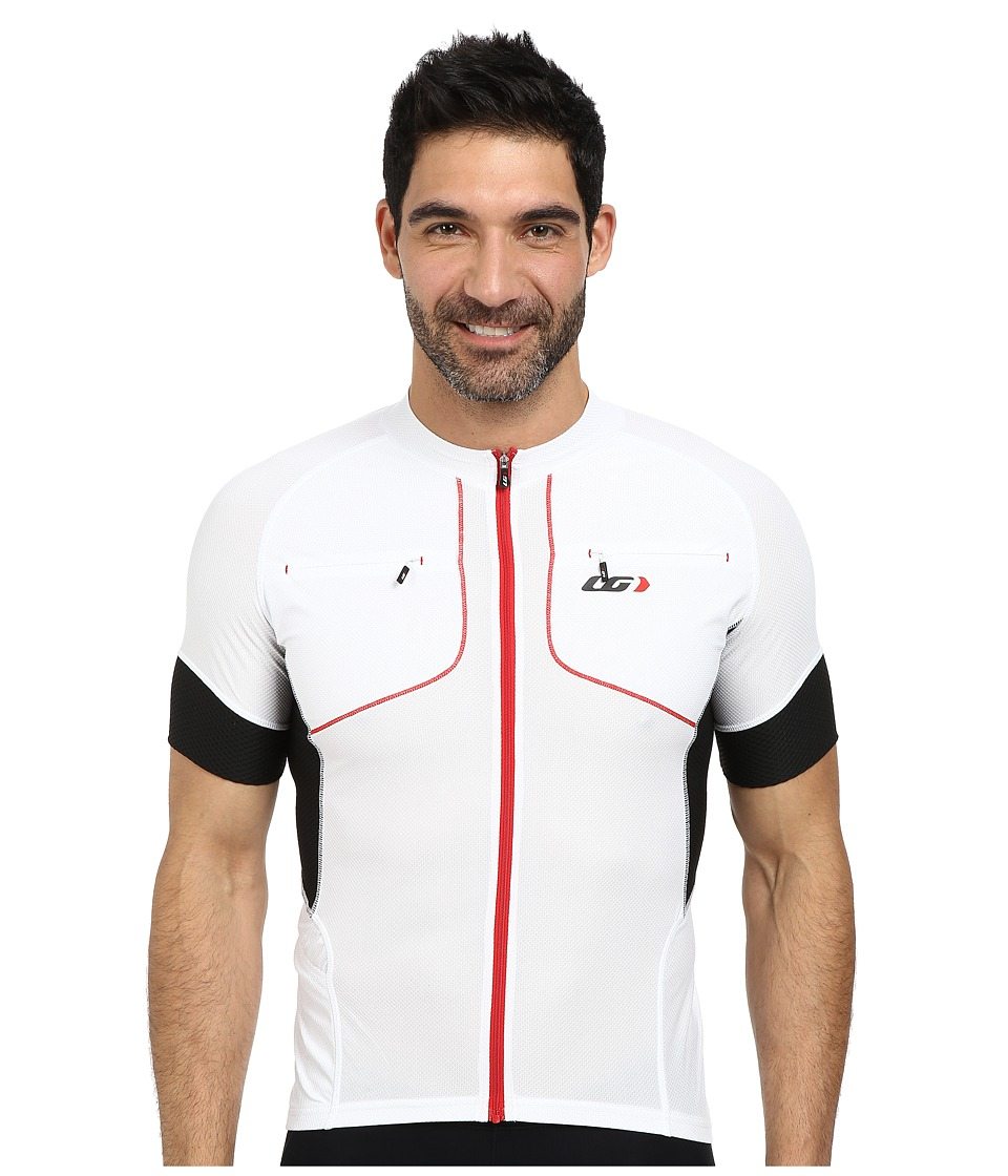 Louis Garneau - Evans GT Jersey (White/Black/Red) Men's Workout