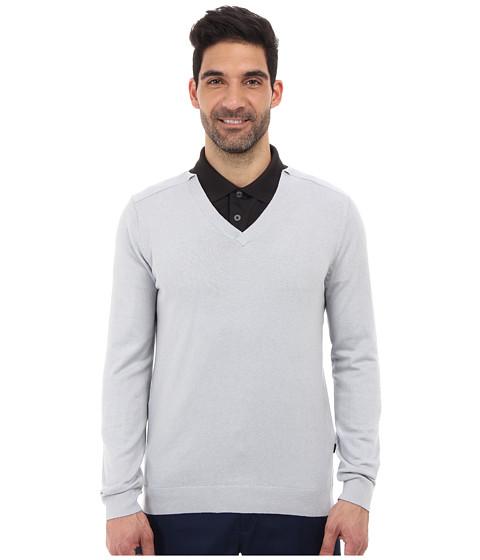 Oakley - Icon V-Neck Sweater (Grey Slate) Men's Long Sleeve Pullover