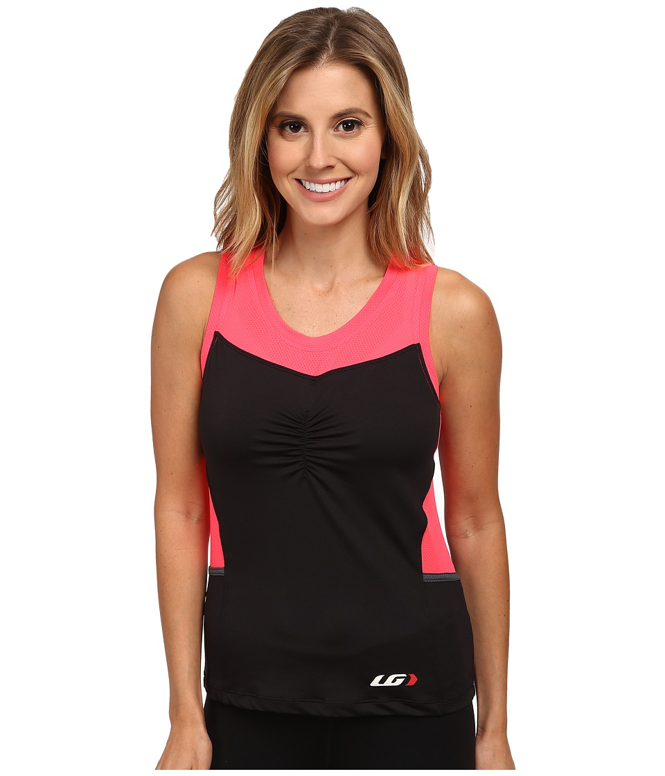 Louis Garneau - Emilia Top (Black/Pink) Women's Workout