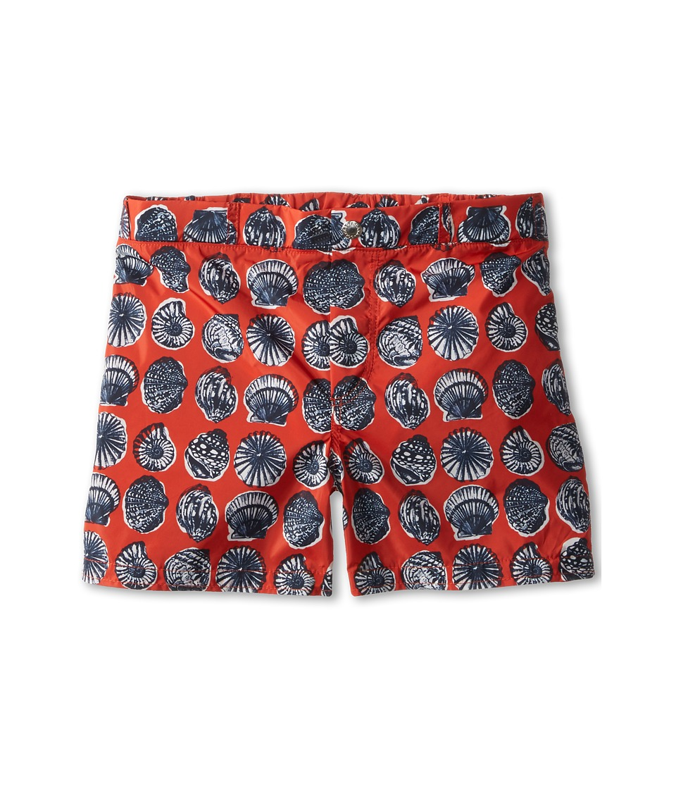 Dolce & Gabbana - Shell Print Swim Trunk (Big Kids) (Red) Men's Swimwear