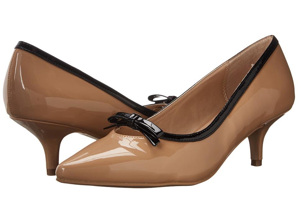 Ann Marino - Burgandy (Shiny Camel) Women's Shoes