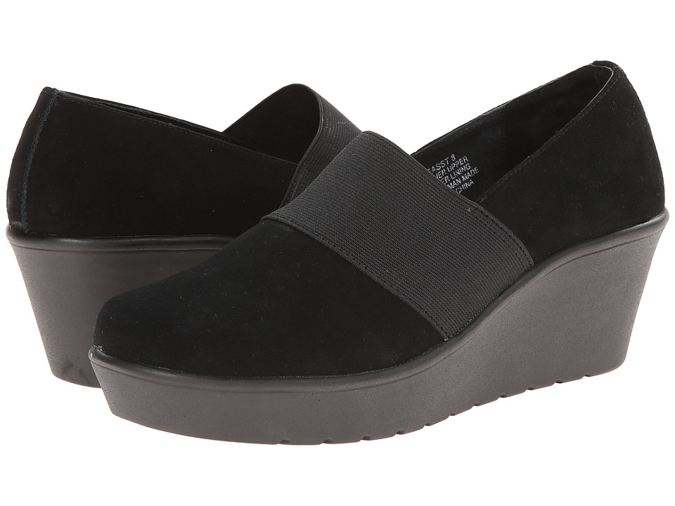 Steven - Easst (Black Suede) Women's Wedge Shoes