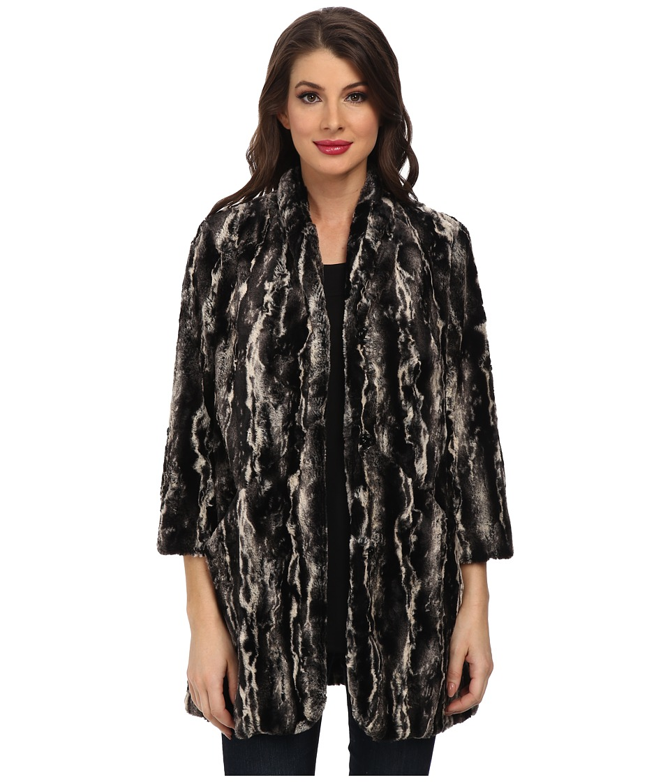 Karen Kane - Marble Faux Fur Coat (Multi) Women's Coat