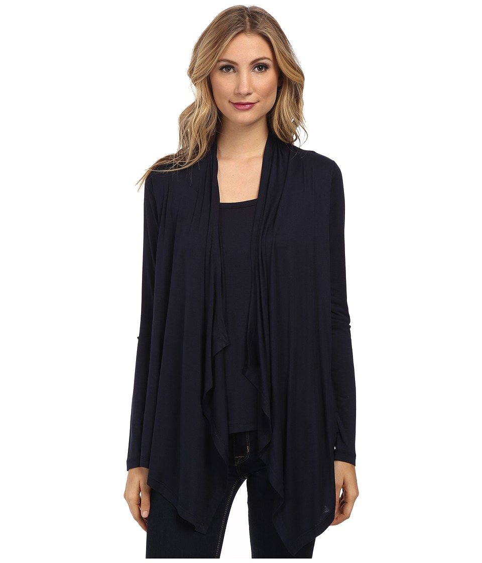 Karen Kane - Tank Cardigan Combo (Navy) Women's Sweater