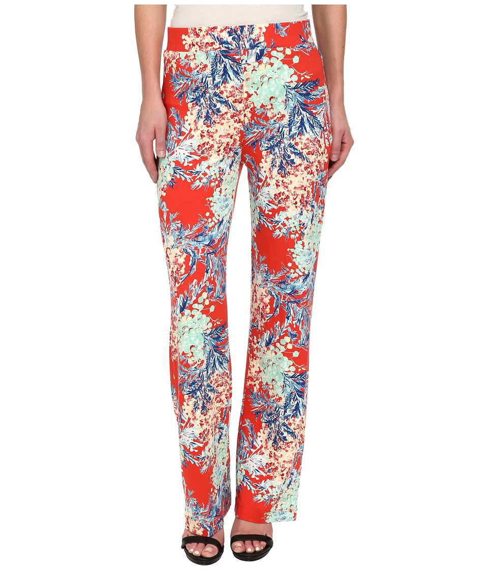 Karen Kane - Tropical Wide Leg Pant (Print) Women's Casual Pants
