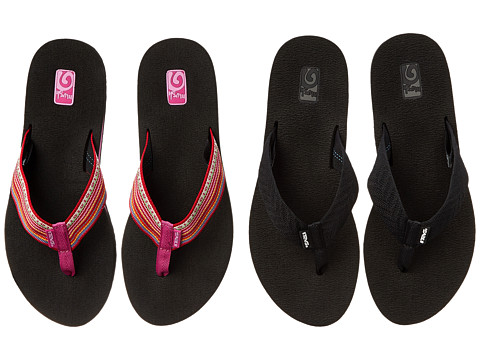 Teva - Mush II 2-Pack (Fronds Black/La Manta Red) Women's Sandals