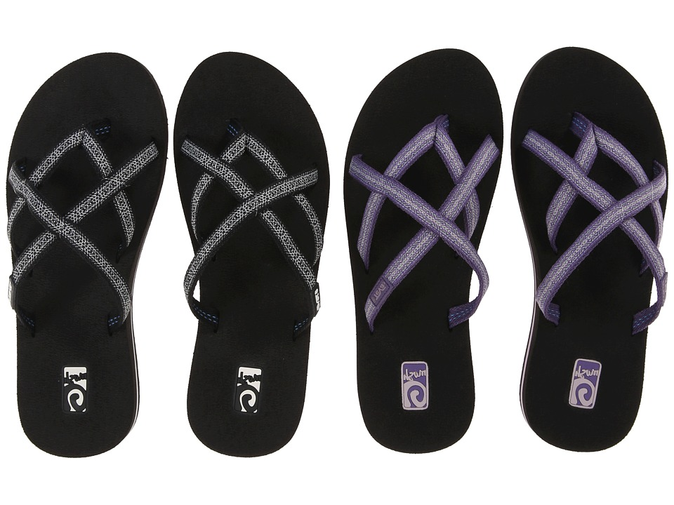 Teva - Olowahu 2-Pack (Pintado Purple/Pintado Black White) Women