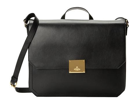 Vivienne Westwood - Brompton Briefcase (Black) Briefcase Bags