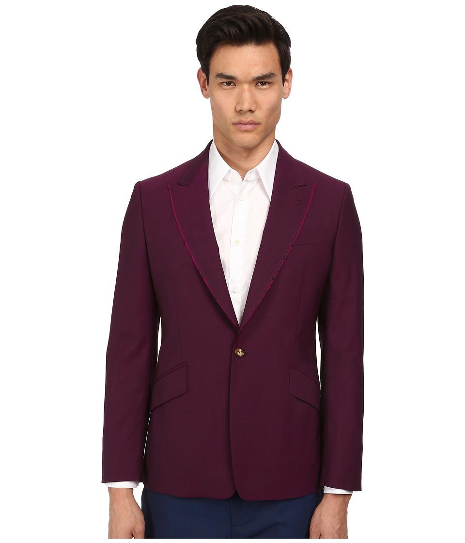 Vivienne Westwood - Classic Wool One Button Jacket (Purple) Men's Jacket
