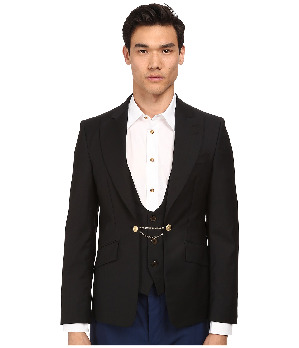 Vivienne Westwood MAN - Classic Wool Waistcoat Jacket (Black) Men's Jacket