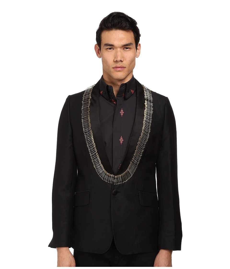 Vivienne Westwood MAN - Safety Pin Evening Jacket (Black) Men's Jacket
