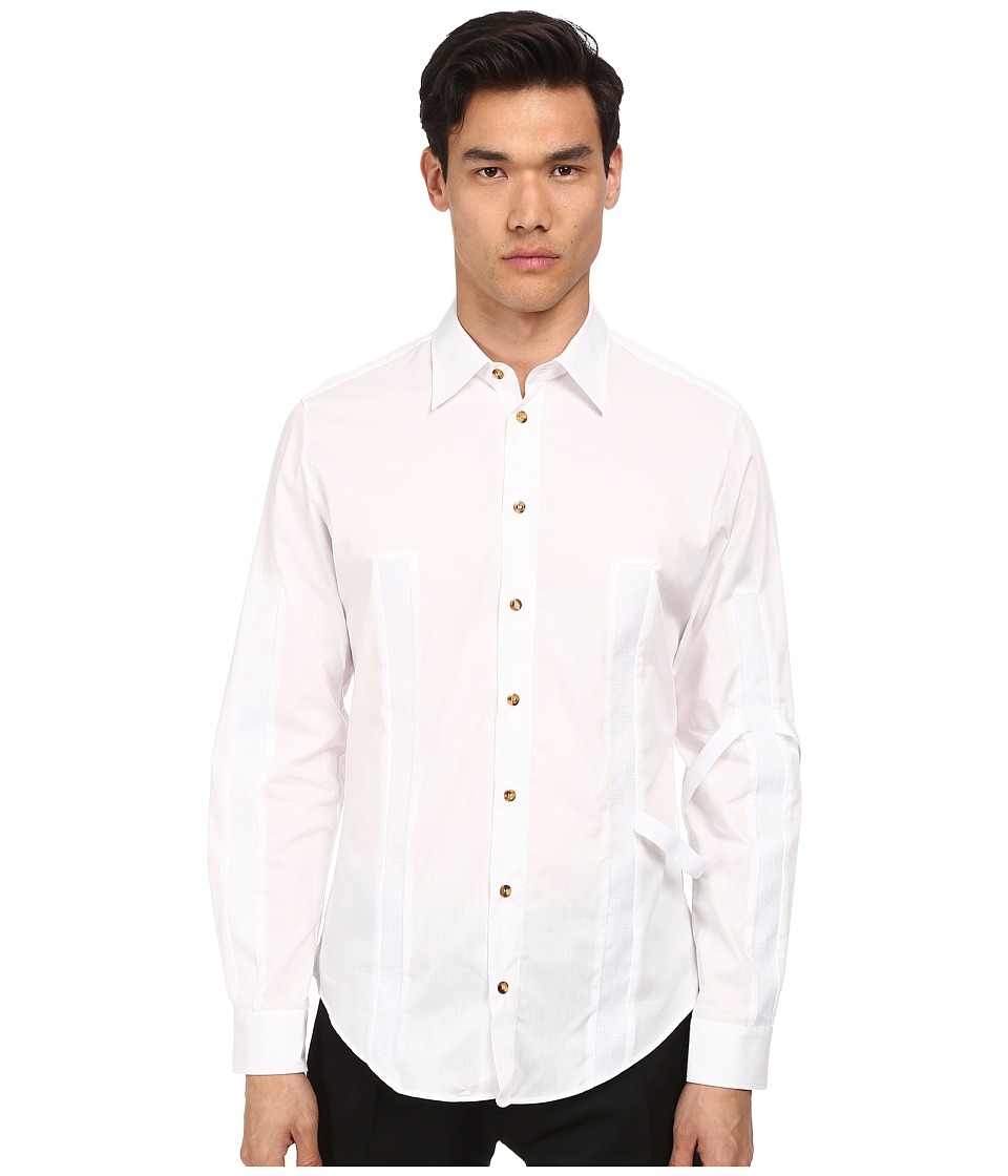 Vivienne Westwood - Mod Insert Button Up (White) Men's Long Sleeve Button Up