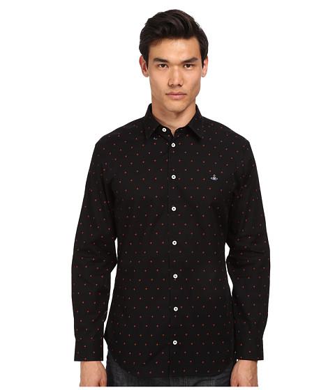 Vivienne Westwood MAN - Fresh Cut Collar Startooth Button Up (Black/Light Blue) Men's Long Sleeve Button Up