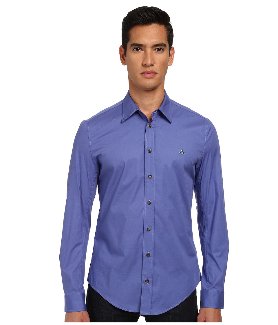 Vivienne Westwood - Stretch Poplin Button Up (Periwinkle) Men's Long Sleeve Button Up