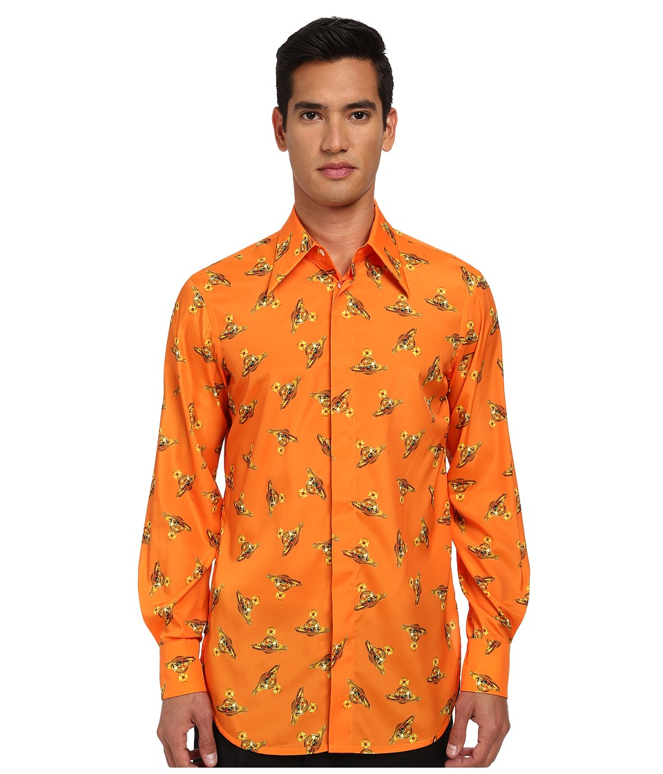 Vivienne Westwood - Time Machine Fernando Button Up (Orange Multi) Men's Long Sleeve Button Up