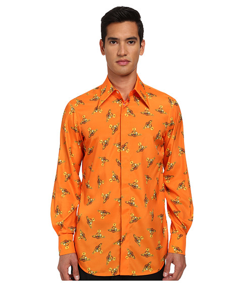 Vivienne Westwood MAN - Time Machine Fernando Button Up (Orange Multi) Men