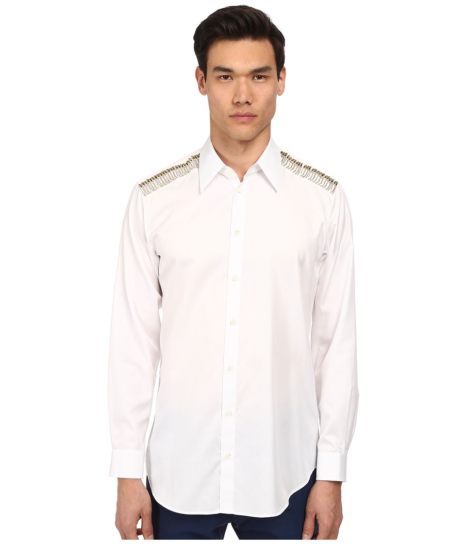 Vivienne Westwood - Safety Pin Button Up (White) Men's Long Sleeve Button Up