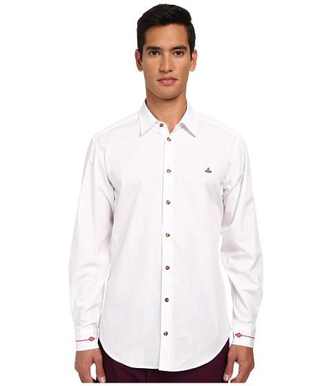 Vivienne Westwood MAN - Fresh Cut Collar Firm Poplin Button Up (White) Men