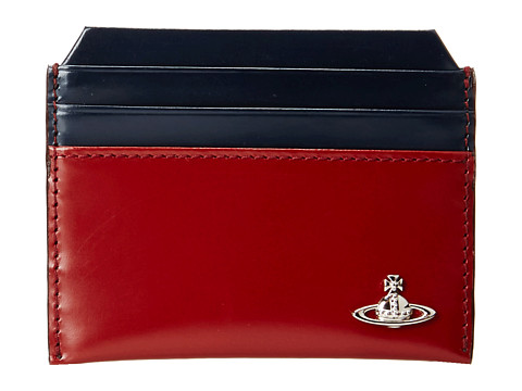 Vivienne Westwood - Bicoloured New Credit Card Holder (Bordeaux) Credit card Wallet