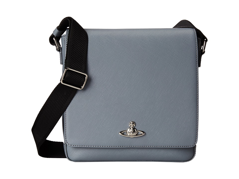 Vivienne Westwood - Saffiano Small Bag (Grey) Messenger Bags