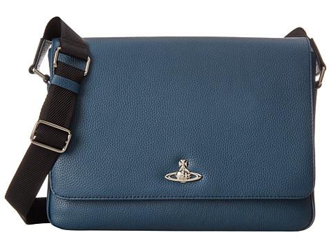 Vivienne Westwood - Leather Positano Bag (Blue) Messenger Bags