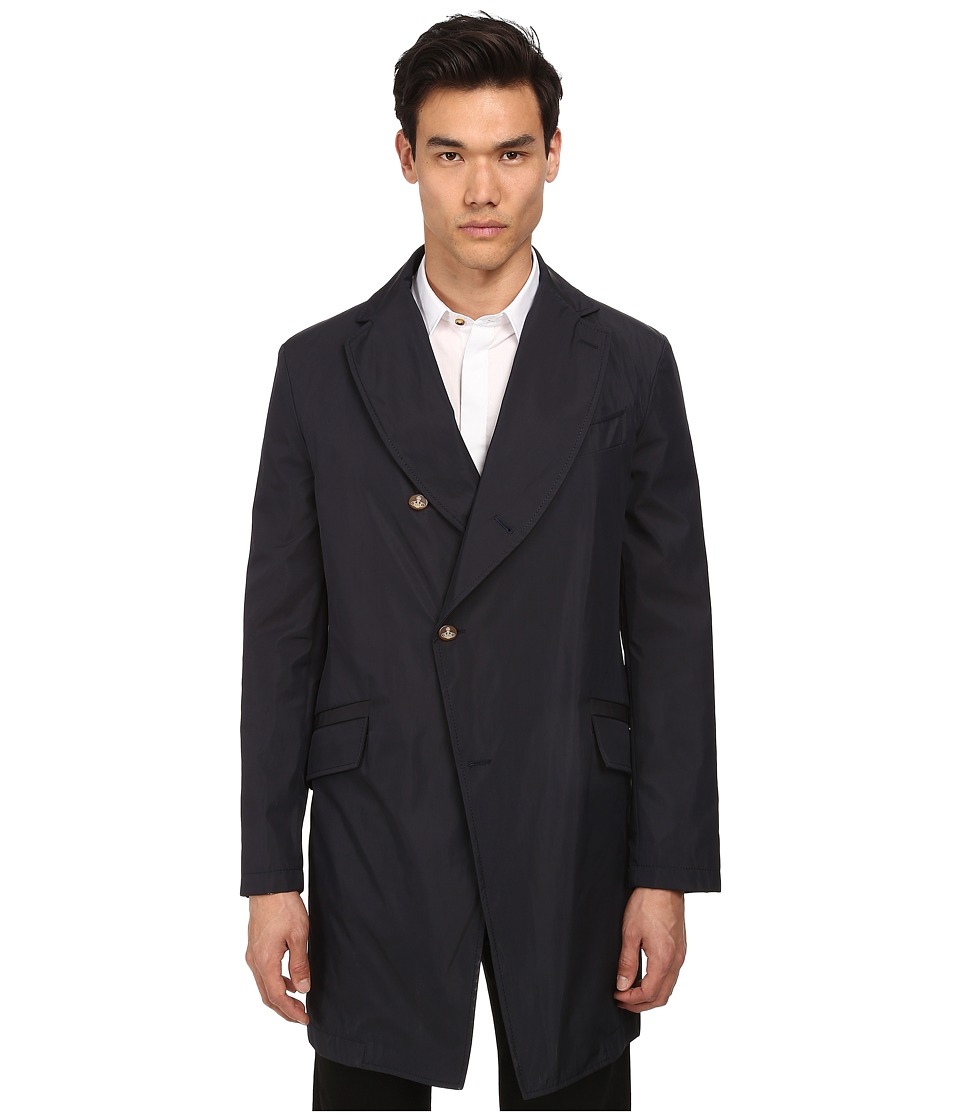 Vivienne Westwood MAN - Asymetric Raincoat (Navy Blue) Men's Jacket