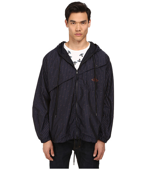 Vivienne Westwood MAN - Zip Through K-Way Nylon Parka (Navy) Men's Coat