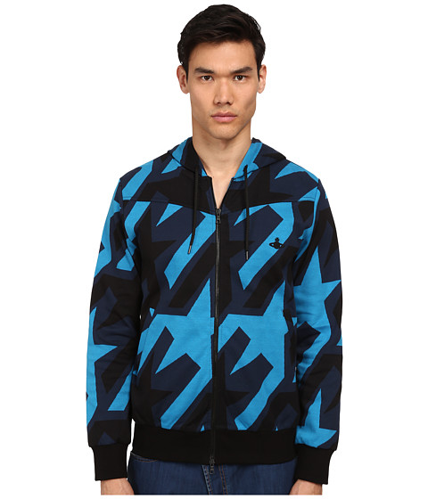 Vivienne Westwood MAN - Startooth Jersey Savage Hoodie (Navy Multi) Men