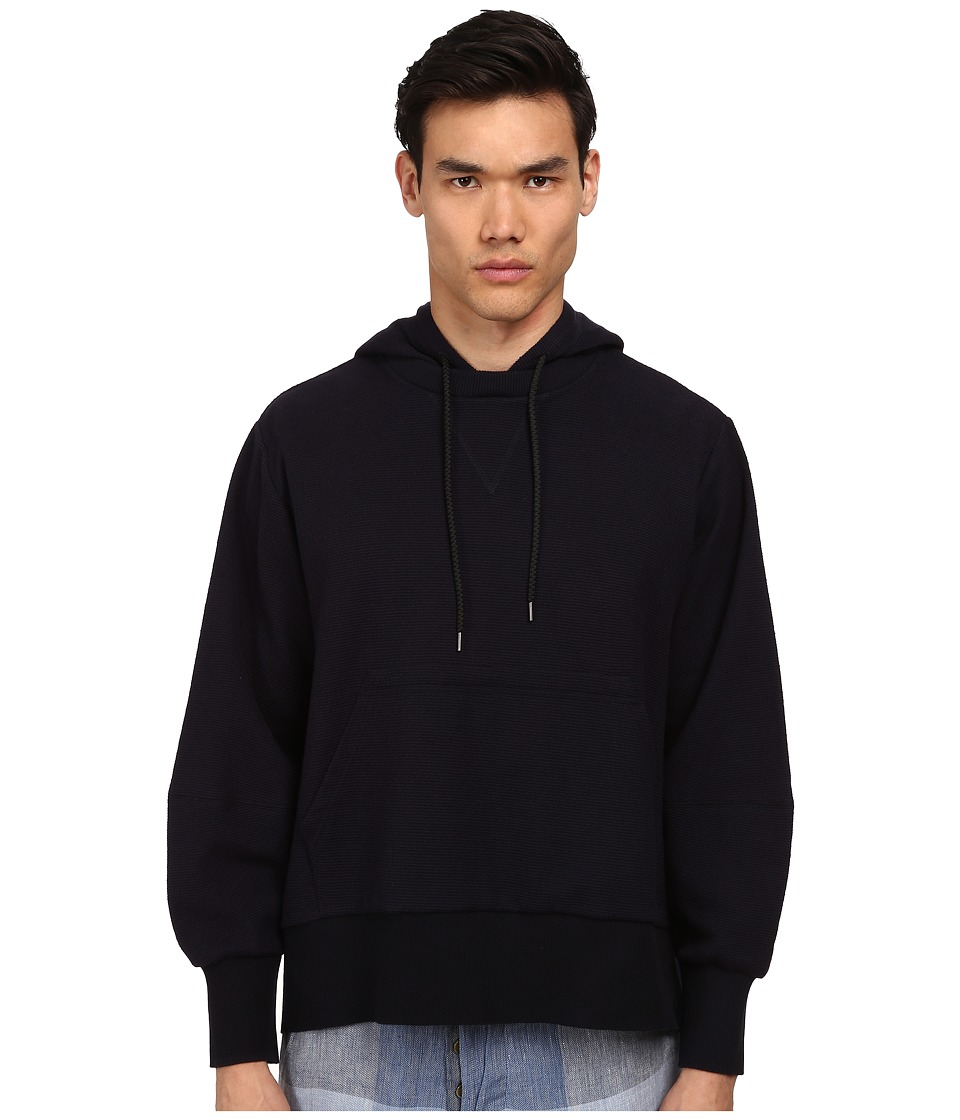 Vivienne Westwood MAN - Hooded Cape (Navy) Men's Long Sleeve Pullover
