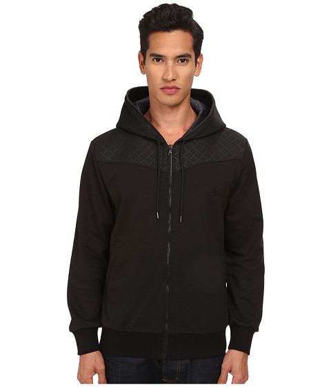 Vivienne Westwood MAN - Tech Cotton Savage Hoodie (Black) Men's Sweatshirt