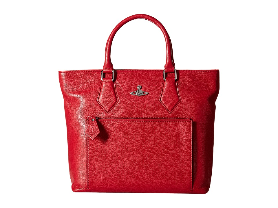 Vivienne Westwood - Leather Shopper Bag (Red) Tote Handbags