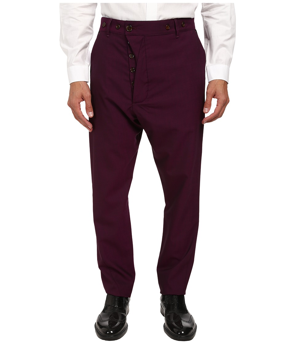 Vivienne Westwood - Classic Wool Alcoholic Trouser (Purple) Men's Casual Pants