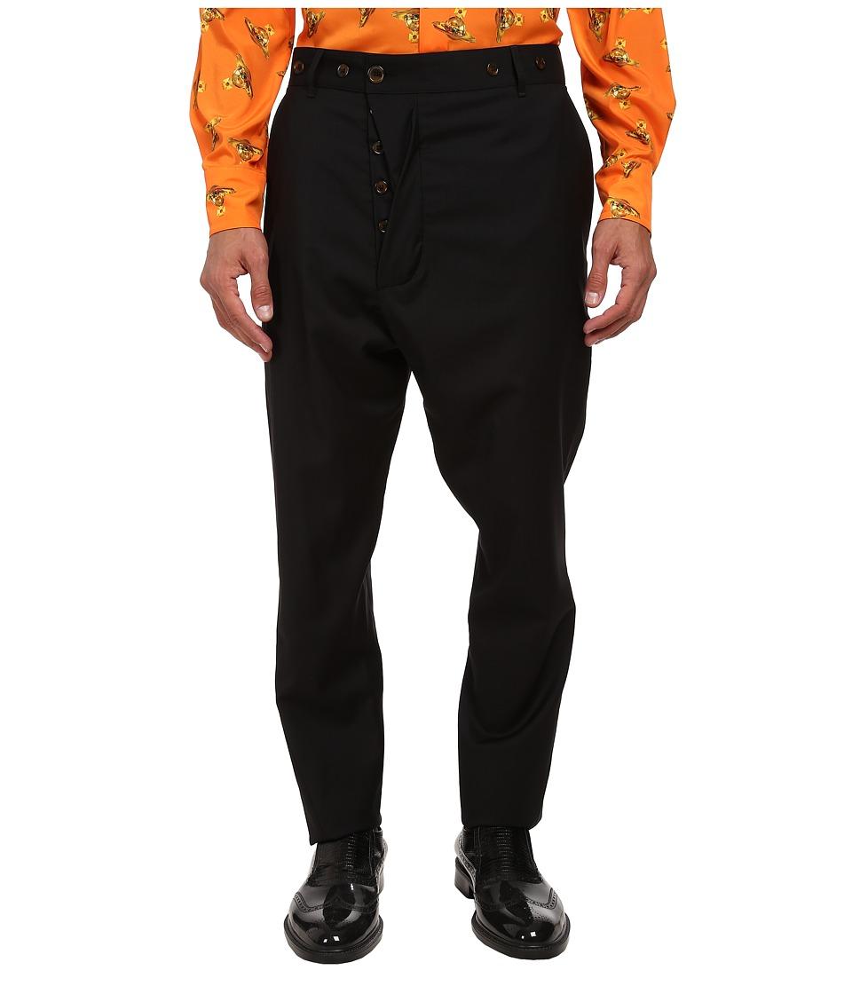 Vivienne Westwood - Classic Wool Alcoholic Trouser (Black) Men's Casual Pants