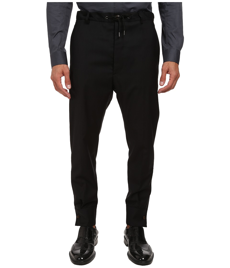 Vivienne Westwood MAN - Shirt Cuff Trouser (Black) Men's Casual Pants