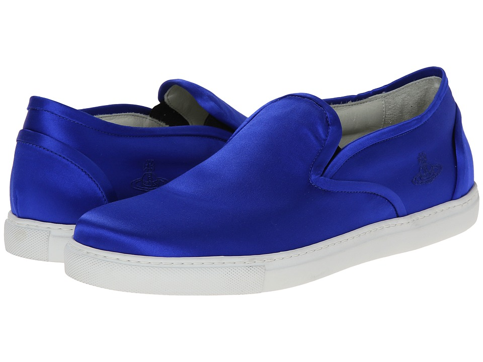 Vivienne Westwood Silk Slip-on Sneaker (Royal Blue) Men