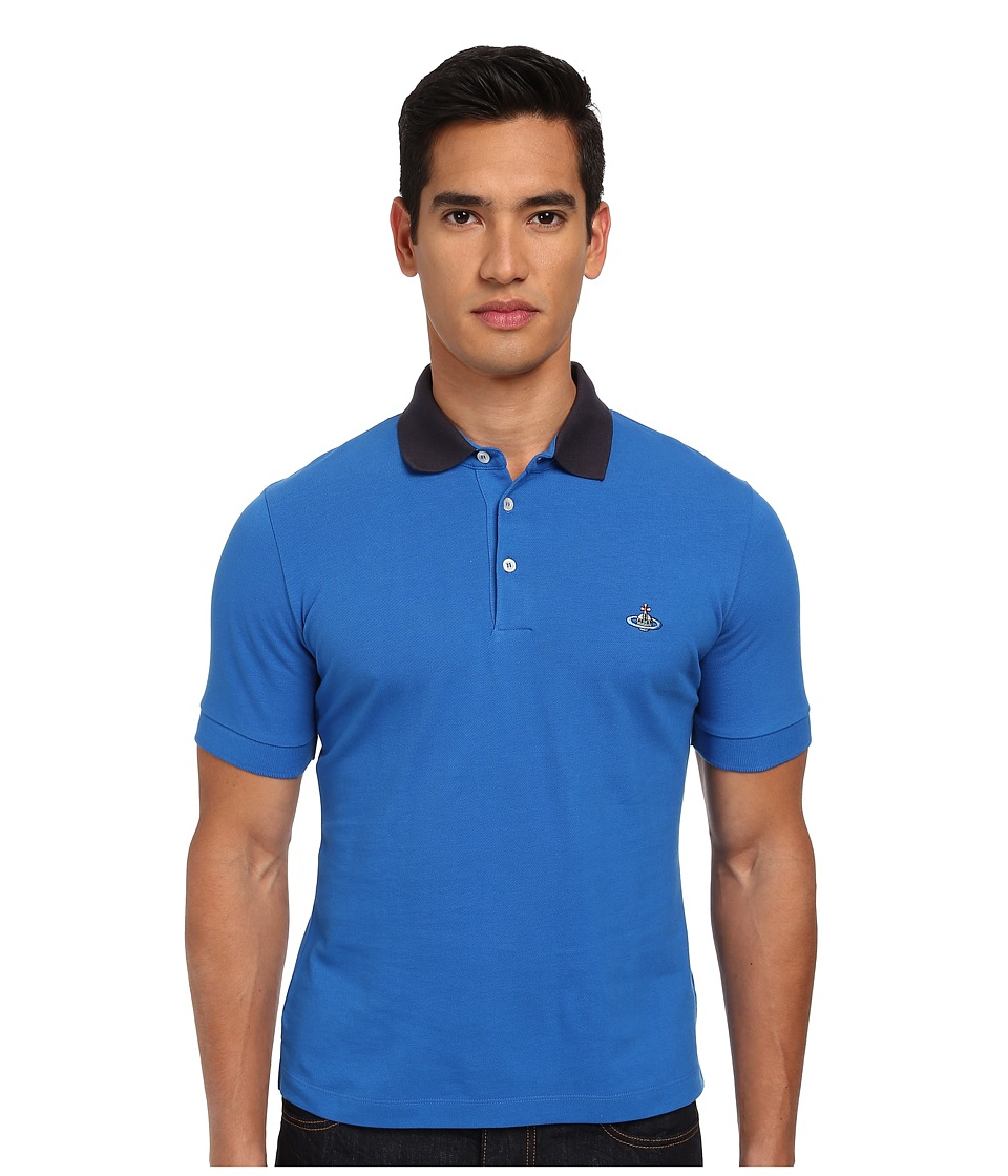 Vivienne Westwood MAN - One Button Polo (Turquoise) Men's Clothing