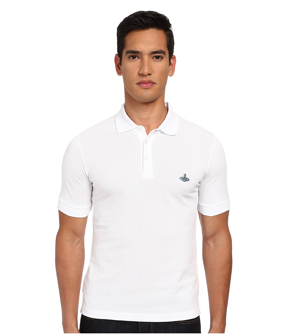 Vivienne Westwood MAN - One Button Polo (White) Men's Clothing