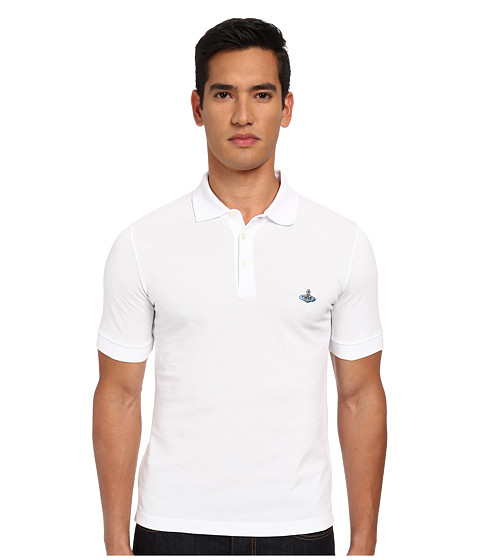 Vivienne Westwood MAN - One Button Polo (White) Men