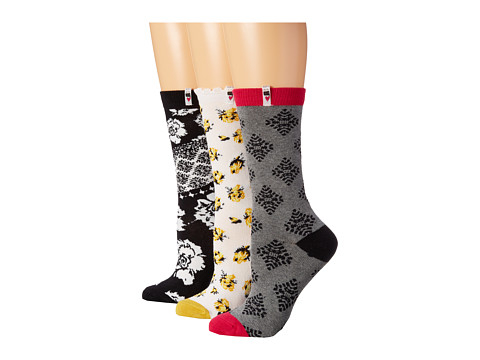 Volcom - Walk The Hall Sock 3 Pack (Assorted) Women's Crew Cut Socks Shoes