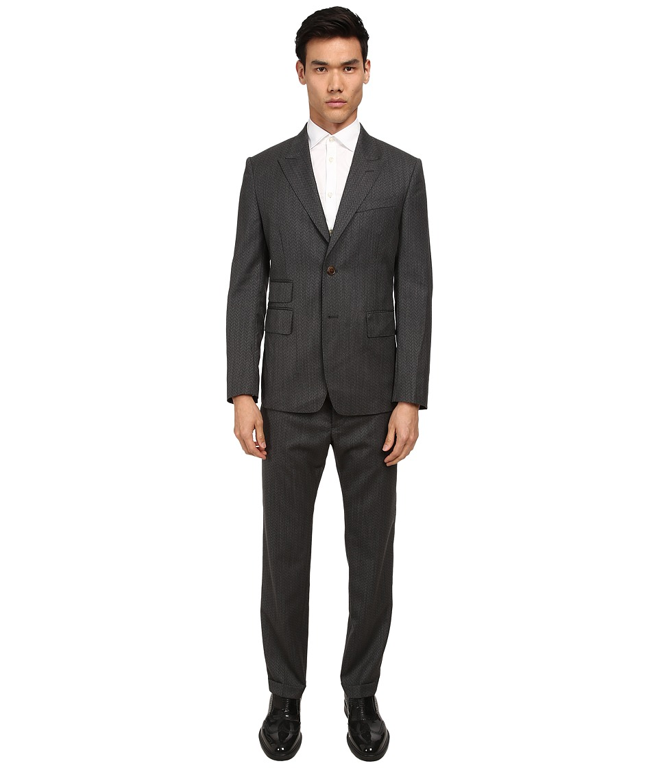 Vivienne Westwood MAN - Zig Zag Alfred Suit (Grey) Men's Suits Sets